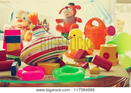 Children's Toys In The Children's Room