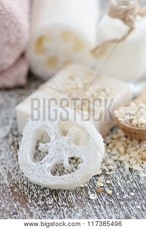 Loofah And Soap Oatmeal Handmade For A Natural Clean