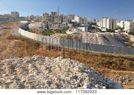 Jerusalem security fence.