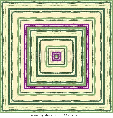 Seamless strip ethnic ornamental pattern. Rectangle, square lines with torn paper effect. Shred edge