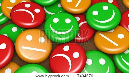 Customer Feedback Rating Buttons