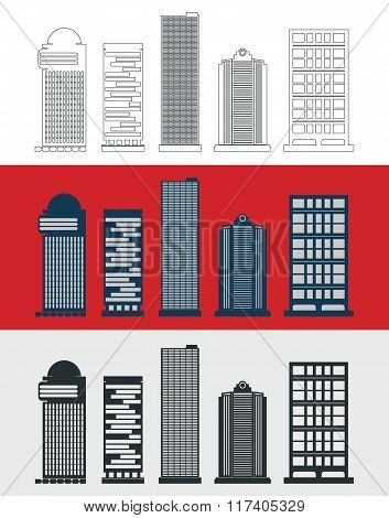 Skyscraper template set