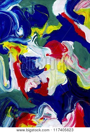 Thick Abstract Daubs Of Paint