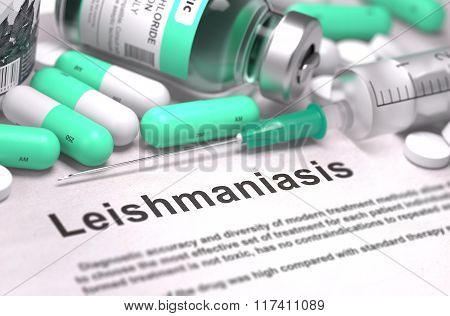 Leishmaniasis Diagnosis. Medical Concept.