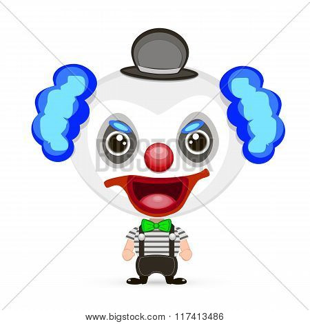 Crazy Clown Illustration