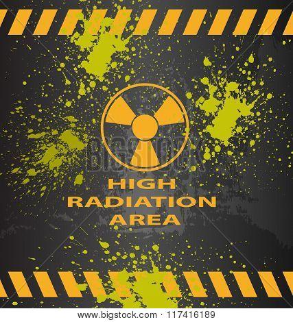 Radiation area warning sign