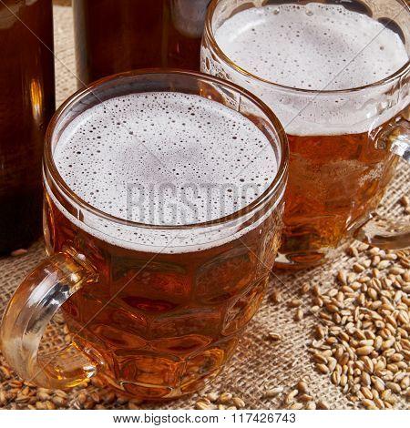 Beer In Old Mugs