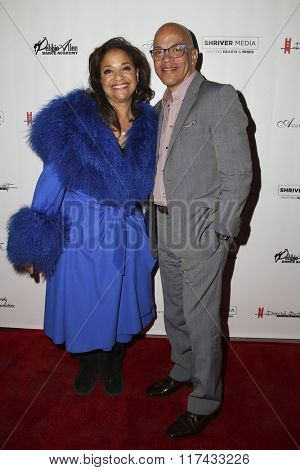 LOS ANGELES - FEB 4:  Debbie Allen, Ricky Minor at the Debbie Allen's Freeze Frame U.S. Premiere at the Wallis Annenberg Center for the Performing Arts on February 4, 2016 in Beverly Hills, CA