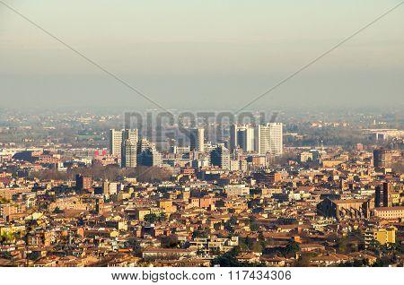 Bologna Fiera District Aerial View