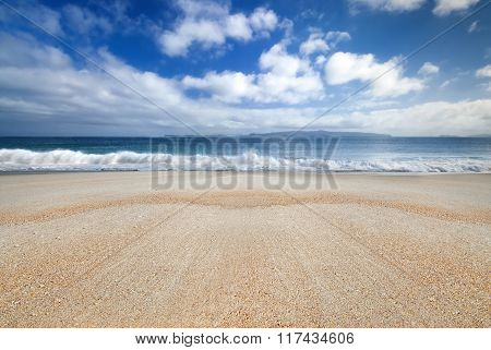 Golden sandy beach, Coromandel,New Zealand