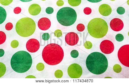 Red and green circles