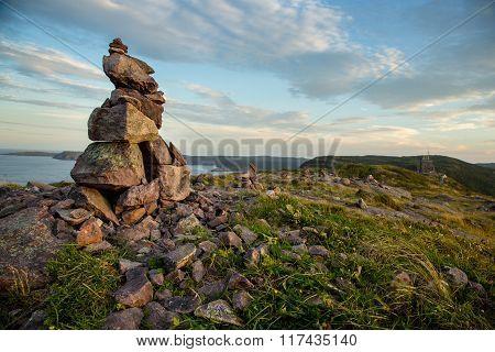 Inuksuk (inukshuk) On Signal Hill, St. John's, Newfoundland
