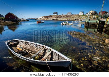 Boat In Harbour At Peggy's Cove, Nova Scotia