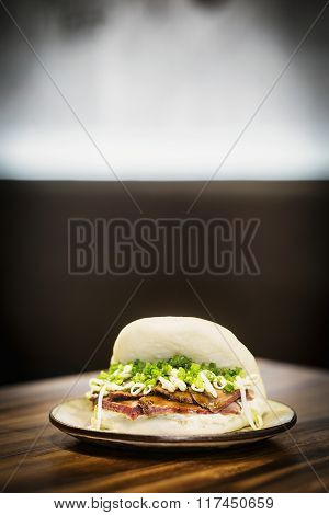 Roast Pork Soy Bean And Chive Asian Fusion Sandwich