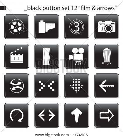 Black Button Set 12