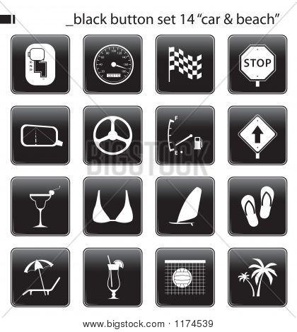 Black Button Set 14
