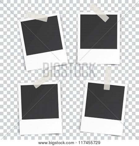 four Retro blank photography