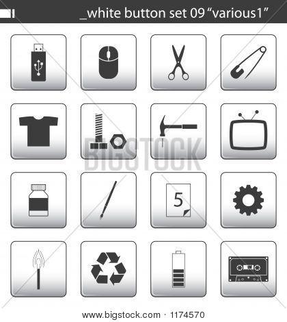 White Button Set 09