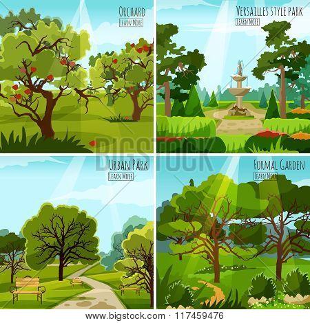 Garden Landscape 2x2 Design Concept