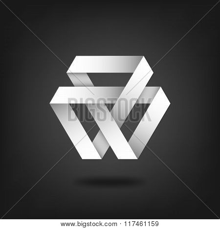 Mobius Strip Symbol On Black Background