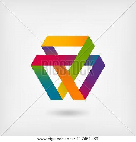 Mobius Strip Multi-color Symbol