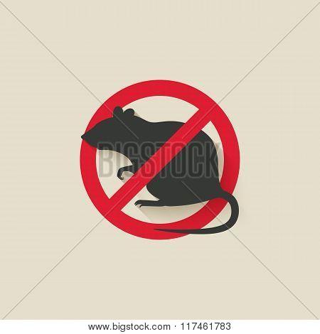 rat warning sign