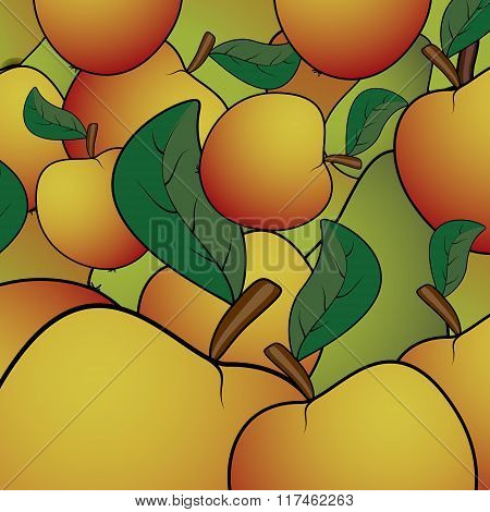 Apple  Abstract Pattern