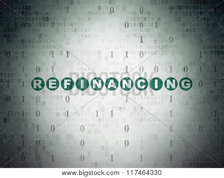 Business concept: Refinancing on Digital Paper background