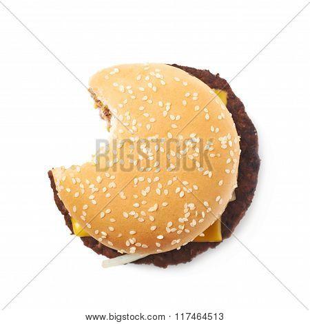 Fresh hamburger isolated