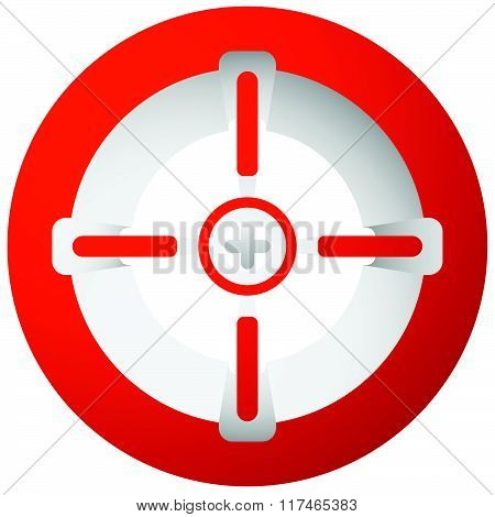 Target Mark, Cross-hair, Reticle Isolated On White. Vector Graphic