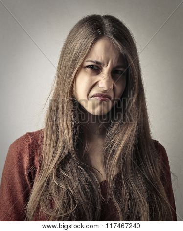 Disgusted girl
