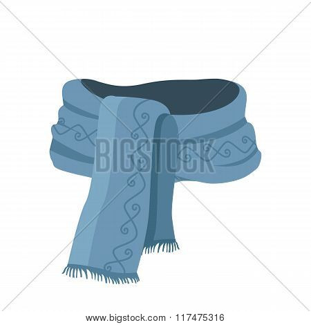 Striped Scarf Isolated