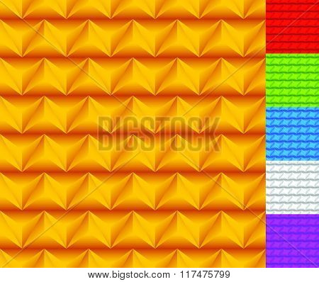3D Seamless Pattern With Alternating Embossed Triangles