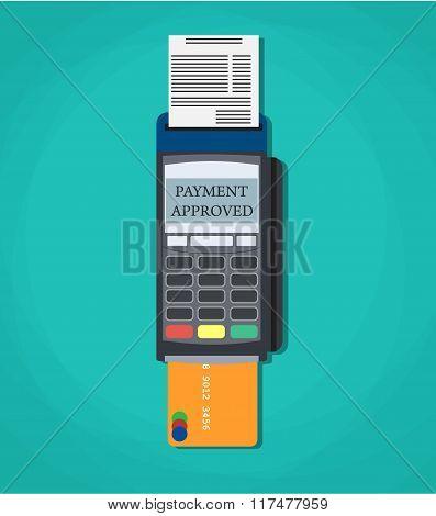 Modern  POS payment terminal