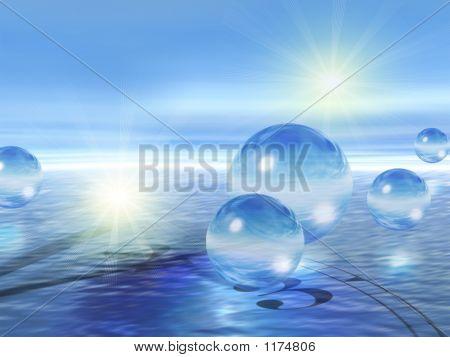 Glass Spheres & Water