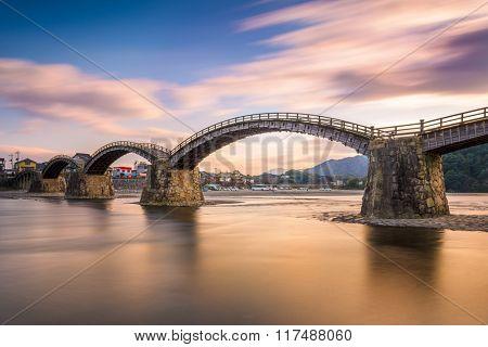 Kintaikyo Bridge in Iwakuni, Hiroshima, Japan.