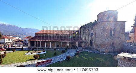 Picture of an Old architecture of Ohrid Macedona.church saint sophia , ohrid,macedonia