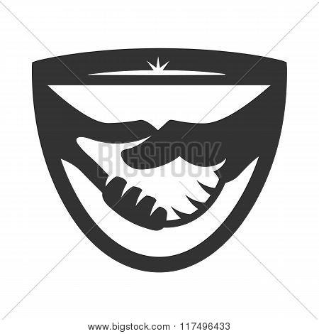 Business handshake logo