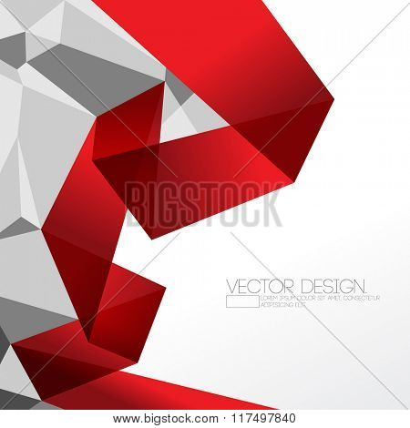 origami inspired folded paper and polygon elements corporate design