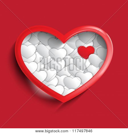valentine's day heart symbol isolated