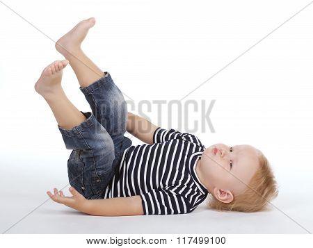 little boy on the floor