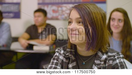 Student attends prep class for SAT standardized test