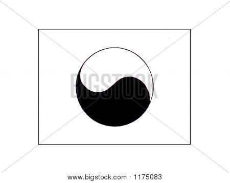 Flag Of Yin And Yang
