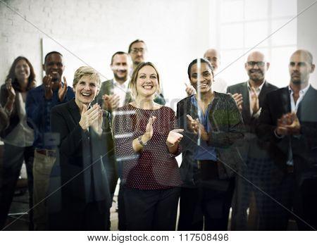 Business People Celebration Success Applauding Concept