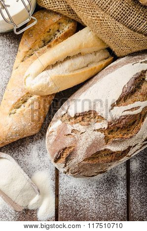 Fresh Farmer Rustic Style Bread With Pastry