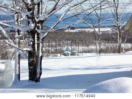 Pristine Snowy Landscape Hill