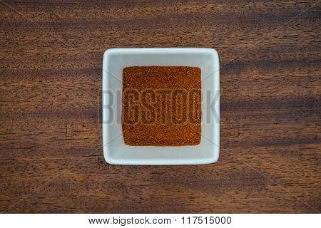 Paprika In White Bowl