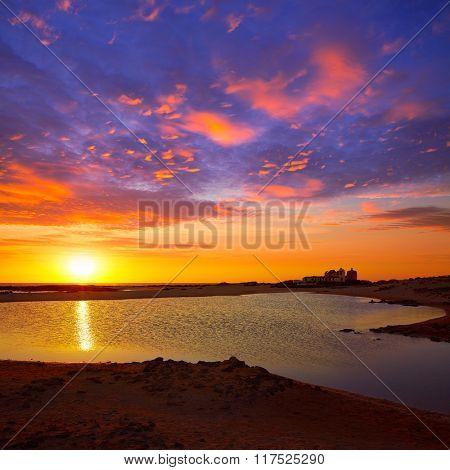 El Cotillo la Concha Beach sunset Fuerteventura at Canary Islands of Spain
