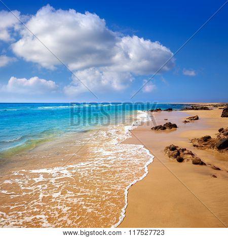 Morro Jable beach Fuerteventura at Canary Islands of Spain
