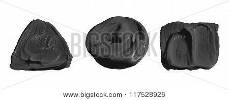 Black Color Paint Isolated On White